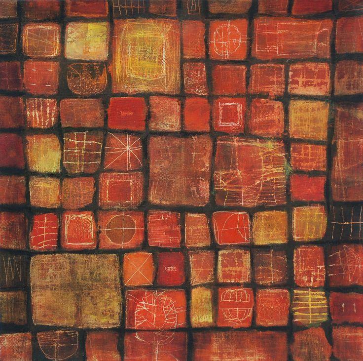 Textile series 4 de 4 mixed media on canvas 50 x 50 cm 2008