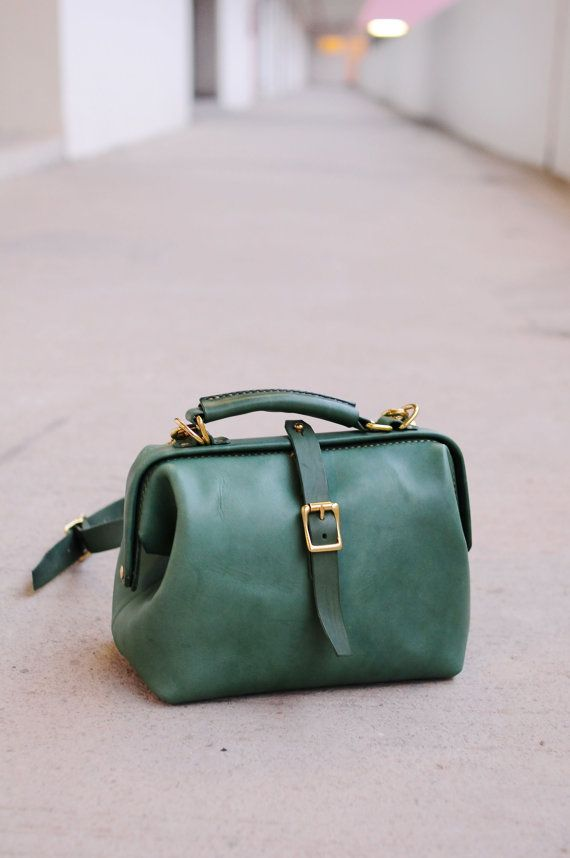 Hand Stitched Leather Doctor Bag/ Carry on by ArtemisLeatherware