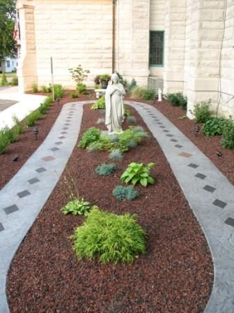 It's a Rosary Garden. This is a great idea. We love praying with space. There's a labyrinth at Kearns Spirituality Center!