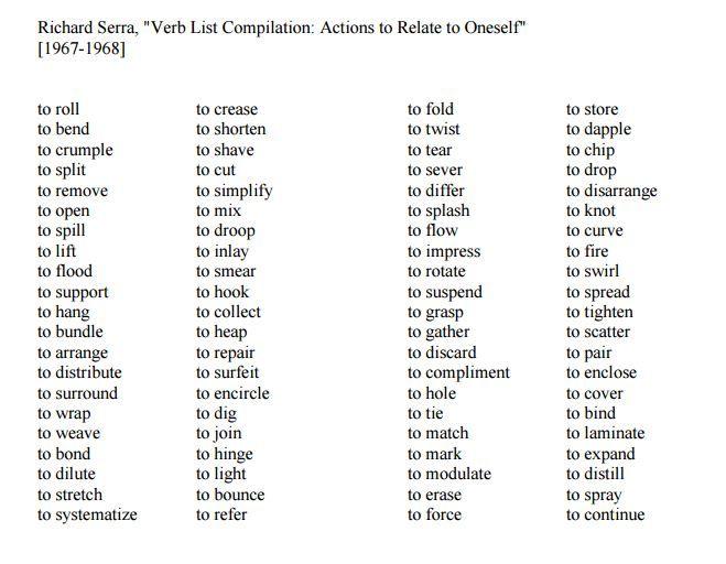 to drop Serrau0027s List of Verbs Pinterest - verbs list
