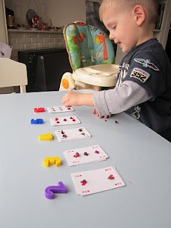 Cijfers leren met speelkaarten