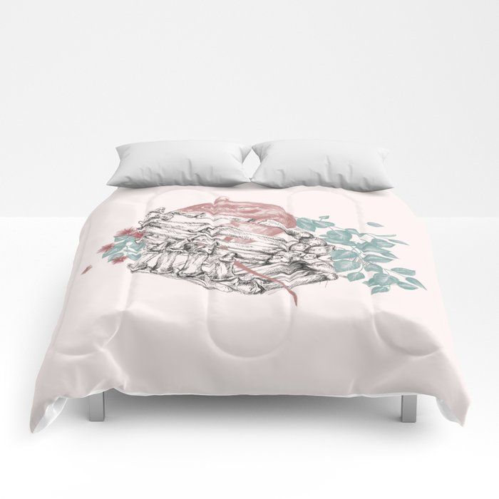 Hands Bed Comforter Dormroomdecor Comfortors Best Collection Of Cozy Spring Floral Flower Watercolor A In 2020 Bed Comforters Aesthetic Room Decor Comforters