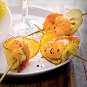 Gefrituurde gamba's met aardappelchips Hapje/voorgerecht,  vis