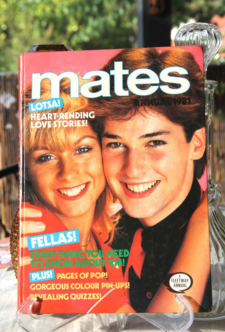 Vintage 1985 Mates Annual Book. Retro 1980s Teenage Annual Book, Fashion, Photo Stories and Pop Stars , DAVID ESSEX. by VintageCollateral on Etsy
