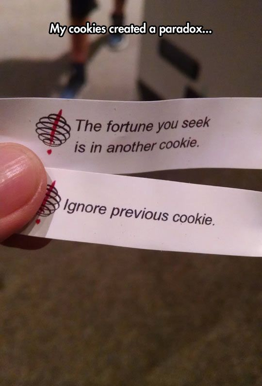 Fortune cookies messing with your mind!!