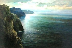 """Laut nan Damai"" by Basuki Abdullah, Medium: Oil on Canvas, Size: 80cm x 120cm"
