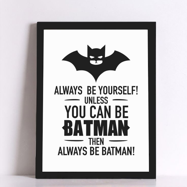 US $6.38 -- AliExpress.com Product - Batman Quote Canvas Art Print Poster, Wall Pictures for Home Decoration, Frame not include