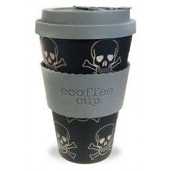 Ecoffee Cup To go Becher Bambus Skullduggery Totenkopf