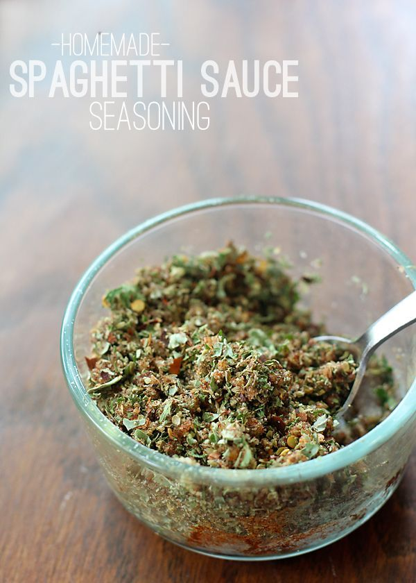 Homemade Spaghetti Sauce Seasoning. No preservative-filled mixes. Make your own!