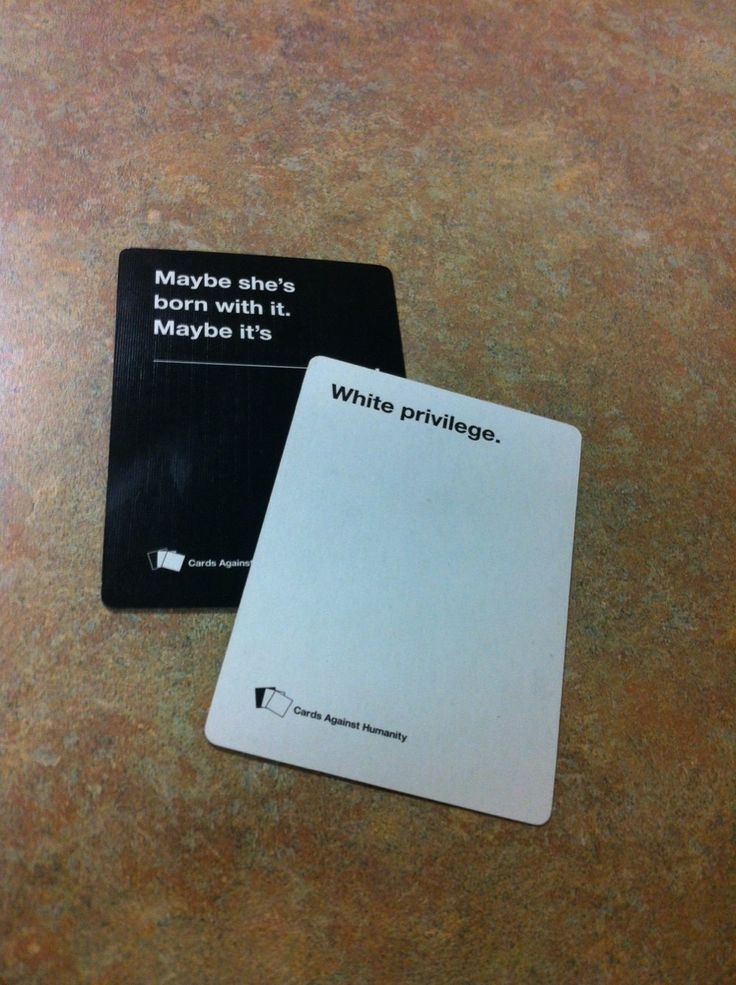 Cards Against Humanity gets it.