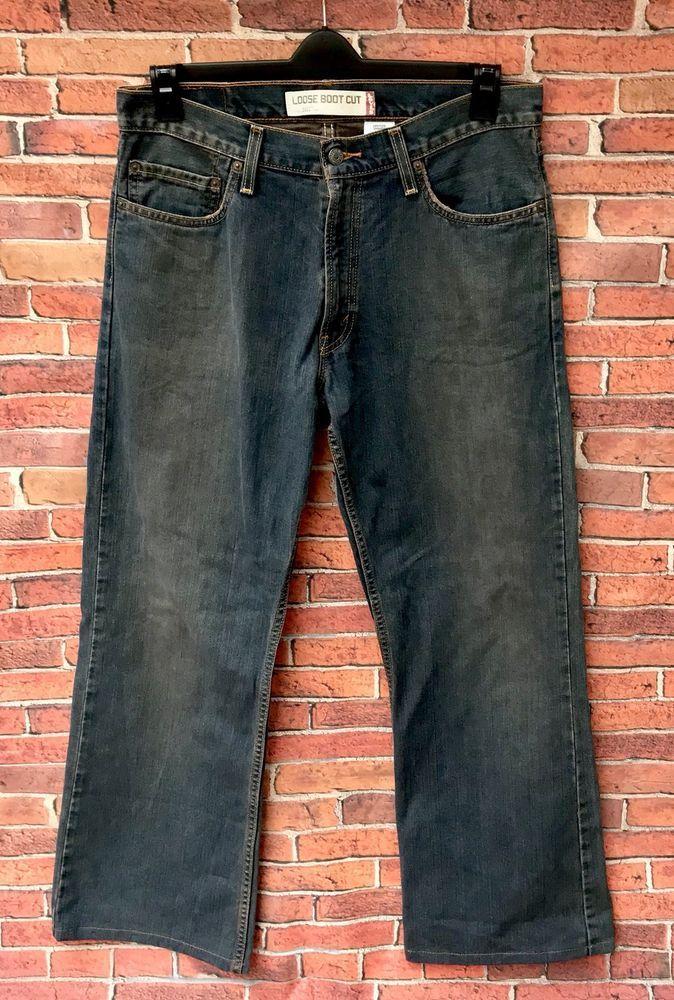 Levi's strauss & co Loose Boot Cut 567 Jeans 👖 W32 L32 100% cotton denim men's