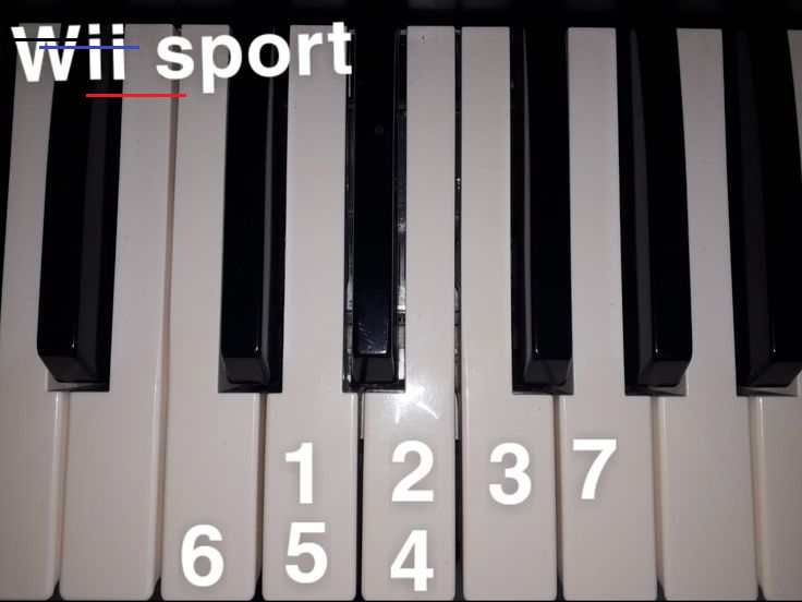 Wii Sport Music Music Wii Piano Note Chords Br In 2020 Piano Notes Songs Easy Piano Songs Piano Music Easy