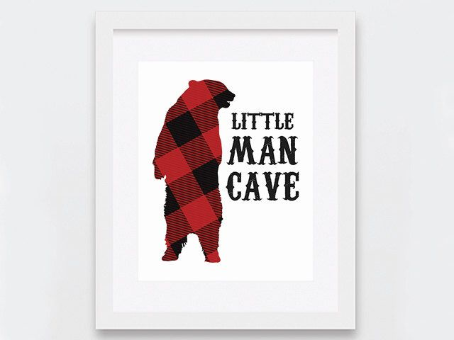 Little Man Cave Decor, Rustic Boy Cave Art Print, Outdoors Themed Boys Room, Red Flannel Outdoors Art Print, Woodland Art, Little Boys Room by nomadprintables on Etsy https://www.etsy.com/listing/269120931/little-man-cave-decor-rustic-boy-cave