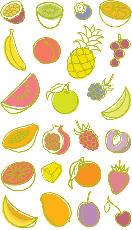 Prepared fruit illustrations
