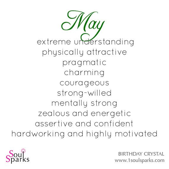 May Birthday - Personlity Description Born in May by SoulSparks