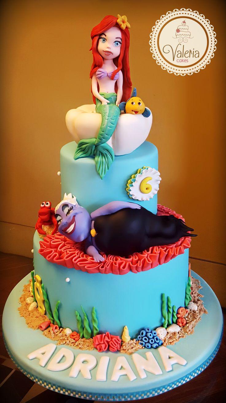 Little Mermaid Fondant Cake ️ Torta De La Sirenita En
