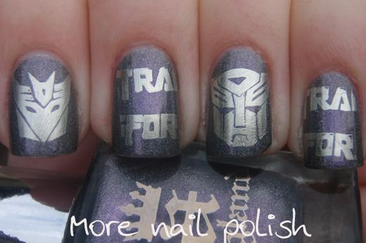 LOVE: Nails Stamps, Nails Nails, Nails Y, Awesome Nails, Transformers Autobot, Transformers Nails I, Transformers Nails Art, Nails Art Transformers, Nails Mi