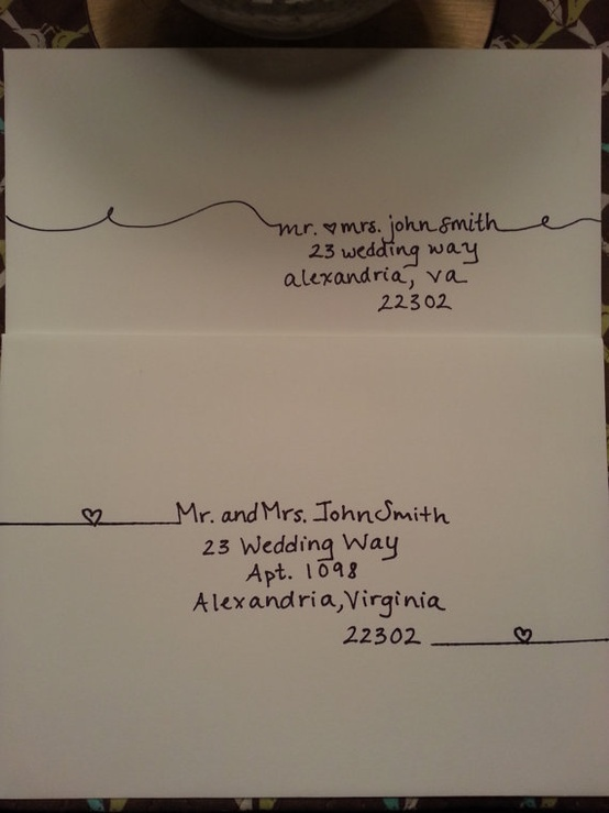 Handwritten Addressing Of Envelopes And Place Cards I