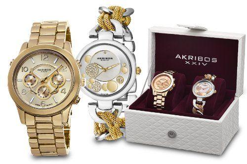 Akribos XXIV Watch Set AK676YG