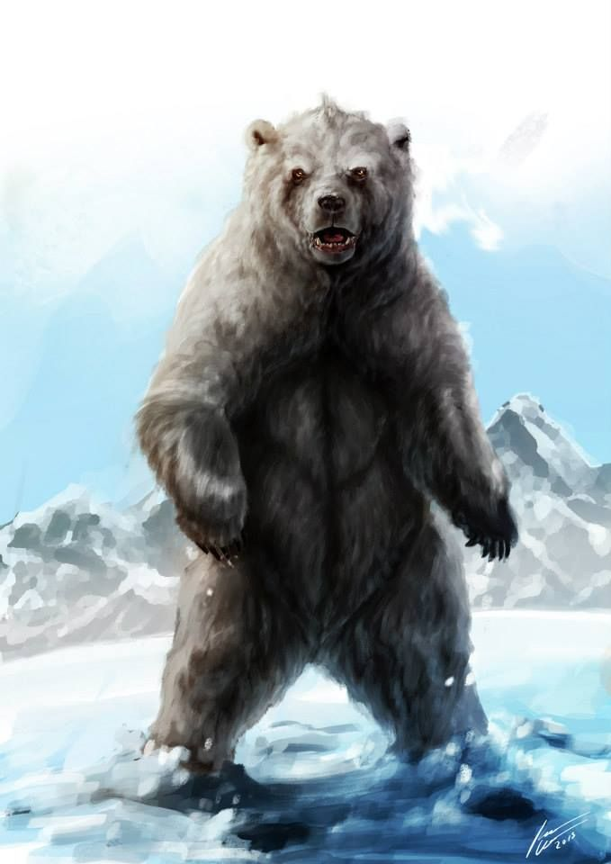 Cave Bear (Ursus spelaeus) by  Karel Cettl