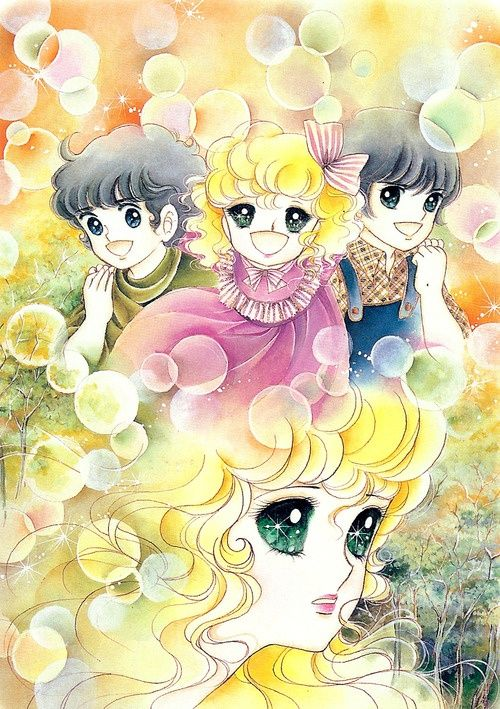 Georgie and her brothers by Mann Izawa•Art of Yumiko Igarashi color sleeve ✤…