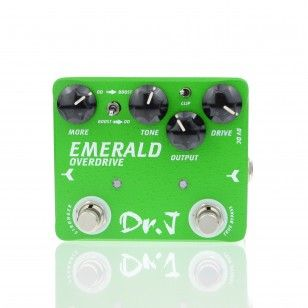 Dr.J D-60 Green Emerald Overdrive Mosfet Diode Guitar Effect Pedal by www.joyoeffectpedals.co.uk