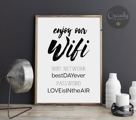 Wedding Website Password Ideas: 25+ Best Ideas About Wifi Password Printable On Pinterest