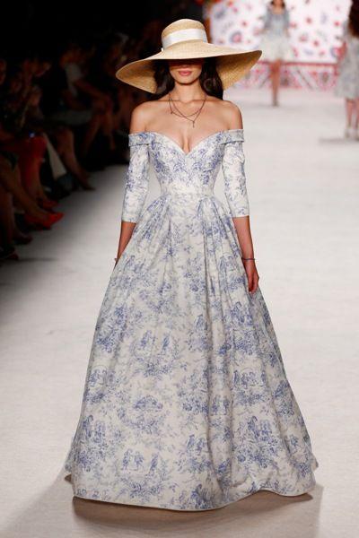Langes Sommerkleid 2016 Lena Hoschek Fashion Week Berlin Juli 2015 - 02