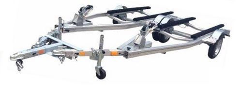 New two single trailers into a tandem boat trailer
