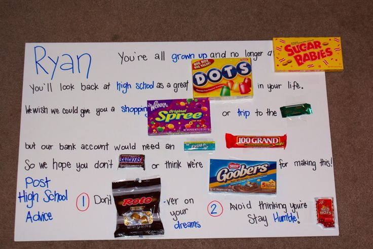 To show you love...// graduation gift candy gram | Gifts ...