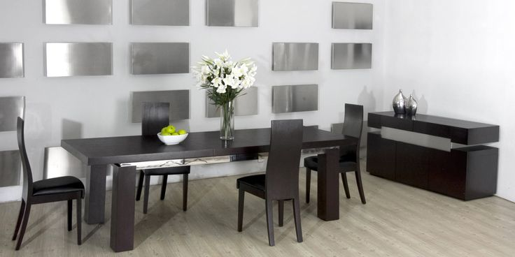 Modrest Maxi Modern Black Oak Dining Table Oak dining  : 4eb7f896ac3134054674660465d39a78 apartment dining rooms oak dining table from www.pinterest.com size 736 x 368 jpeg 31kB