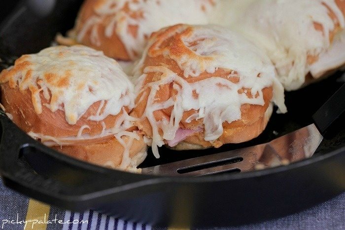 Hot Ham and Cheese Skillet Sandwiches - used low fat smoked gouda ...