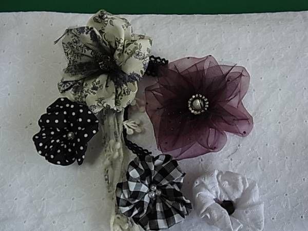 端切れ布で かんたんコサージュ 作ってみませんか。作り方其の1 - かんたん洋裁(カットソー)教室 T.Soleil Dor