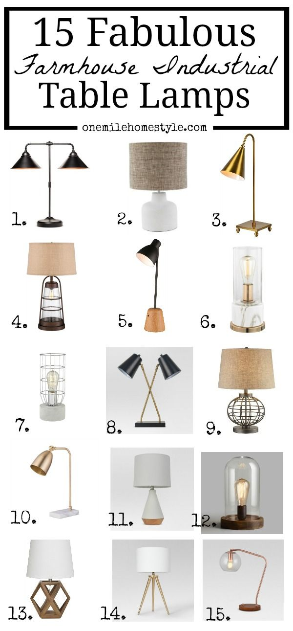 15 Fabulous Farmhouse Industrial Table Lamps Industrial Table
