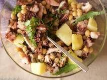 Ricetta Insalata di polpo, patate, ceci e rucola