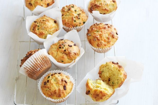 These easy Bacon and cheese #muffins by taste member, tasimum make a delicious lunch-box snack.