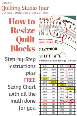 Learn three different ways to resize any quilt or block pattern.