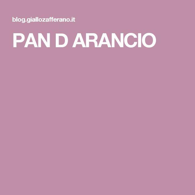 PAN D ARANCIO