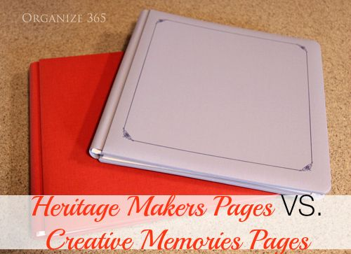 Heritage Makers Pages VS. Creative Memories Pages | Organize 365 - I am super excited to show you exactly how the Heritage Makers albums and pages compare side by side with the old Creative Memories ones.