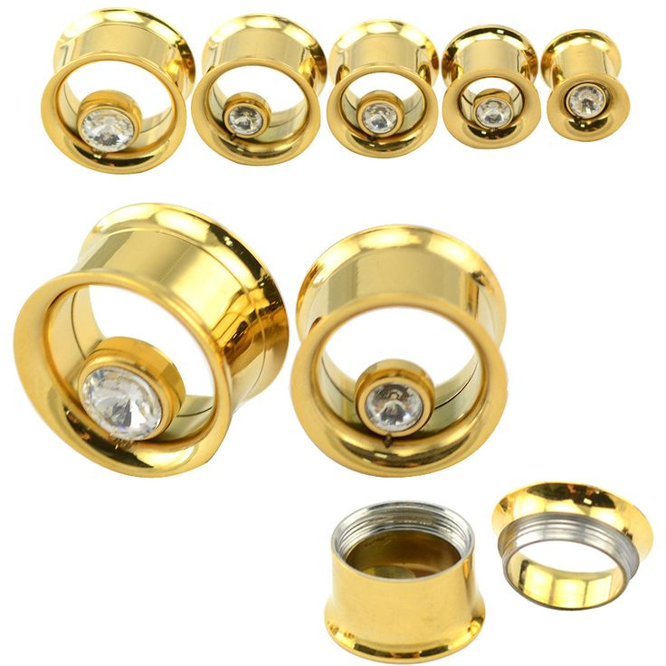 10 pcs/lot New stainless steel jewelry fashion ear tunnels and plugs