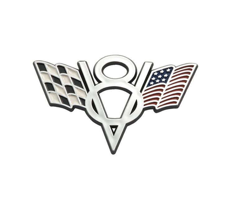 details about ford mustang truck american checkered flags v8 4 chrome fender trunk emblem. Black Bedroom Furniture Sets. Home Design Ideas