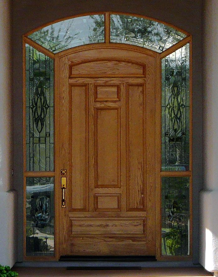 93 best images about front door entry on pinterest for Exterior french doors with side windows