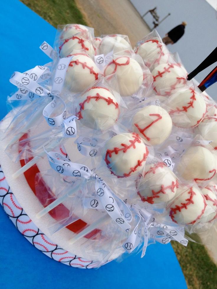 ***Photo only Baseball cake pops for the kids T-Ball team (2012)