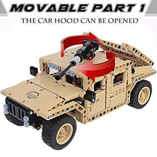 Car Toys For Boys Construction Military Humvee Car 500 Pcs Remote Control Toy #Gm
