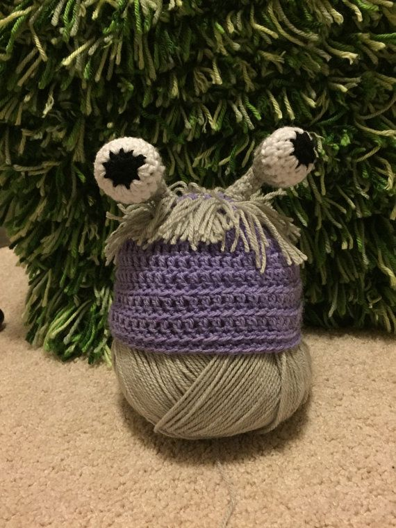 Crochet boo monster inc costume beanie by LittleGattsCrochet