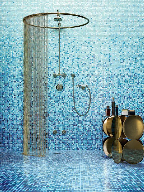 Glass mosaic sfumature by bisazza mosaico mosaic tiles for Bisazza bathroom ideas