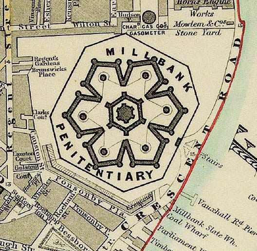 Contemporary plan of the Millbank Penitentiary