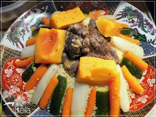 La Nueva Cocina de Leila: Cus cus de ternera con 7 verduras