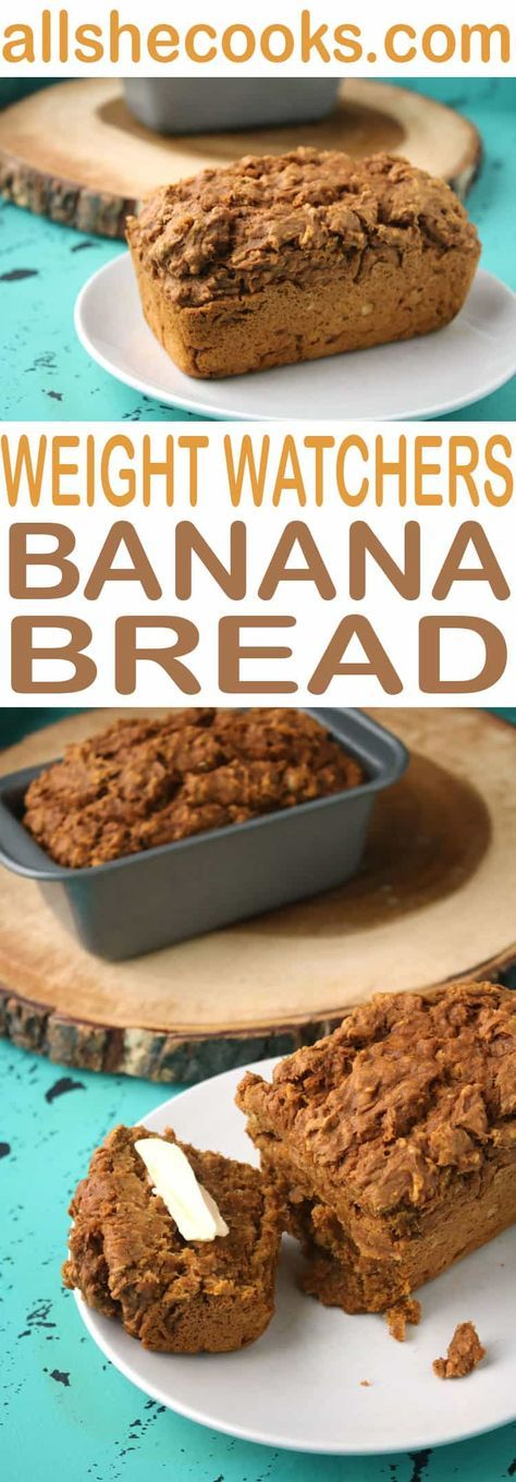Best Weight Watchers Banana Bread is a fast time-saving sweet bread recipe with healthy ingredients that you can feel good about. #weightwatchers #bananabread #smartpoints