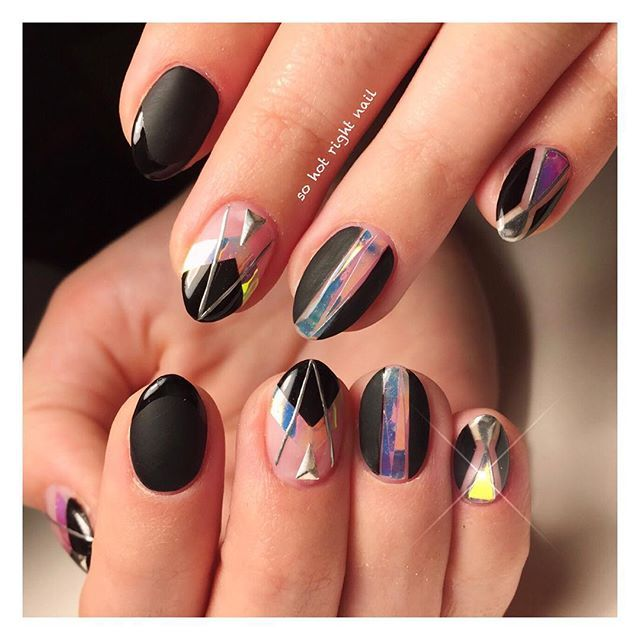 Shattered Glass Nails, sohotrightnail